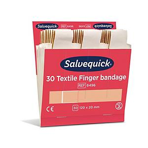 Salvequick 6496 kangaslaastari pitkä, 1 kpl=6x30 laastaria