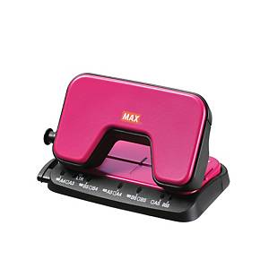 Max DP-15T 2 Hole Puncher Pink - 12 Sheets Capacity