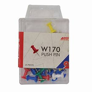 Astar Push Pin Assorted Colour - Pack of 25