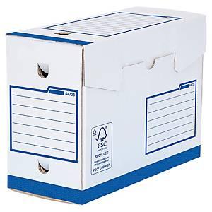 Boîte d archives Bankers Box A4+ - manuel - dos 20 cm - blanc/bleu - par 20