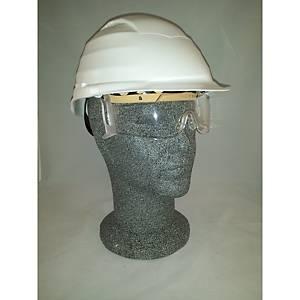 Casque de sécurité Infield Rockman avec lunettes intégrées - blanc