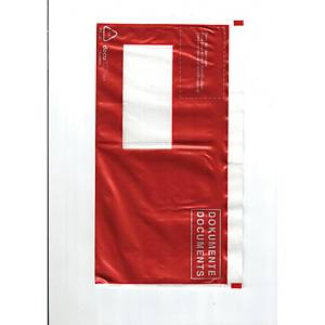 Dokumententasche mit Aufdruck  DOKUMENTE , 175 x 110 mm, C6, červená, 250 Stück