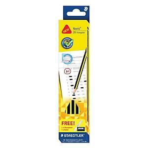 Noris 2B Triangular Yellow Pencil - Box of 12