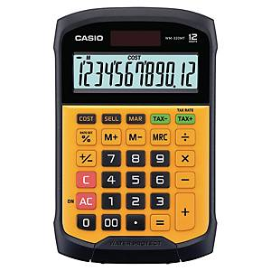 Bordregner Casio WM-320MT, vandtæt, sort/orange, 12 cifre