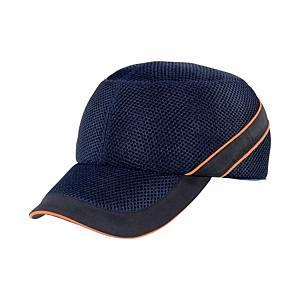 Caschetto antiurto Deltaplus Air Coltan visiera 5 cm blu/arancione