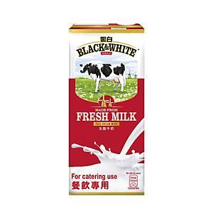 Black & White 黑白 紙包純牛奶1升