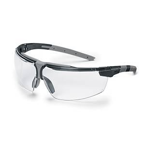 Occhiali di protezione Uvex I-3 lente trasparente - nero/grigio
