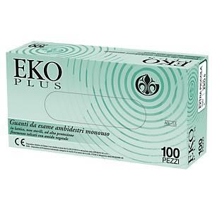 Guanti monouso Gardening Eko Plus in lattice talcato tg 9 / L - conf. 100