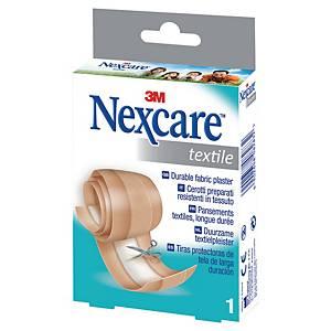 Textil Heftpflaster Nexcare, zum zuschneiden, 6 cmx1 m, braun
