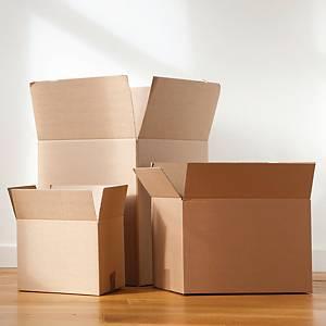 雙坑紙箱 13吋x18吋x13吋