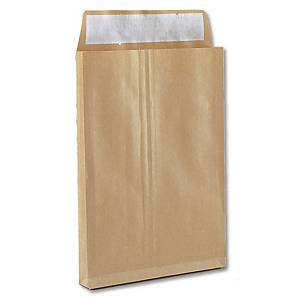 Caixa 250 sacos de fole integral - 280 x 365 mm - 155 g/m² - banda adesiva