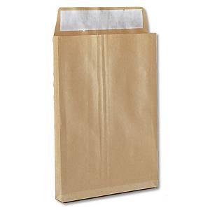 Caixa 250 sacos de fole integral - 250 x 353 mm - 155 g/m² - banda adesiva
