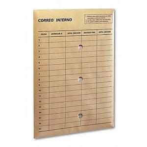Caja de 100 bolsas correo interno - 260 x 360 mm - 120 g/m² - banda multiusos