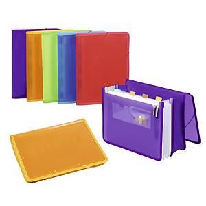 Portadocumentos con fuelle y gomas extensible Carchivo - folio - PP - lila