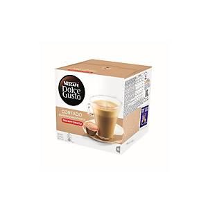 Caja de 16 cápsulas de café Dolce Gusto Cortado descafeinado