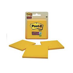 Post-it Yellow Super Sticky Notes 76 X 76mm - Pack of 3