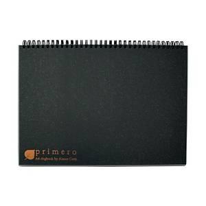 A zone Primero Rule A4 Rringbook 70g Black - 180 Sheets