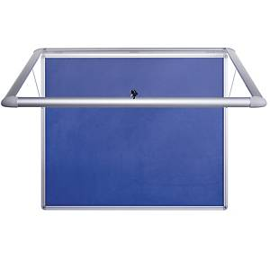 Bi-Office Internal Glazed Case Blue Felt 9XA4