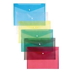 Schutzhüllen mit Druckknopf, 12 Stk, A4, blau
