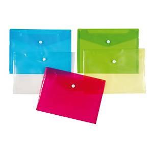 Schutzhüllen mit Druckknopf, 12 Stk, A5, blau