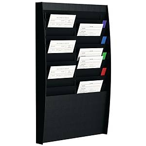 PAPERFLOW WALL DISPLAY RACK 20COMP BLACK