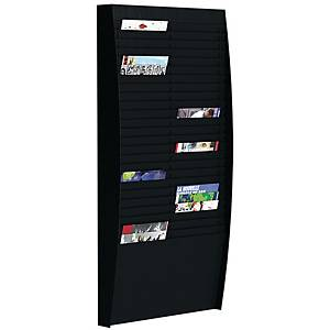 PAPERFLOW WALL DISPLAY RACK 50COMP BLACK