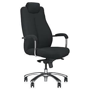 Monaco 24/7 bureaustoel met armleuningen, stof, zwart