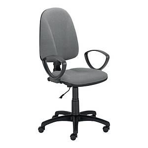 Krzesło LYRECO Premium Ergo ze stałymi podłokietnikami, szare