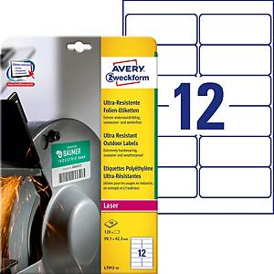 Ultra-Resistente Etiketten Avery Zweckform L7913, 99.1x42.3mm, weiss
