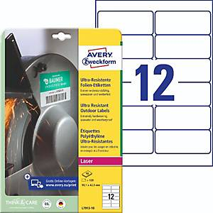 Folien-Etiketten Avery Zweckform L7913-10, ULTRA-RES., 99,1x42,3mm (LxB), 120St
