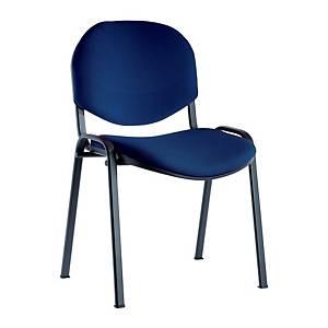 Sedia conferenza ignifuga Seditaly blu bracciolo tavolino escluso