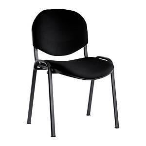 Sedia conferenza ignifuga Seditaly nero bracciolo tavolino escluso