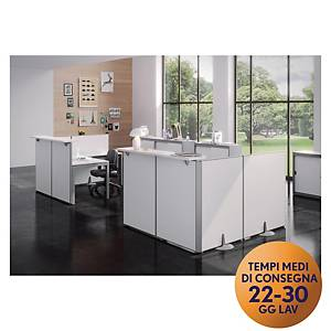 Pannello modulare front-office Meco Office Arredo 60 x 115 cm bianco