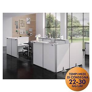 Pannello modulare front-office Meco Office Arredo 80 x 115 cm bianco