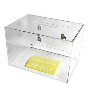 DEFLECT-O TB20 COIN BOX WITH LOCK 20X30CM