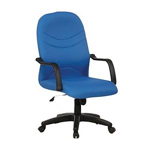 Artrich BL2000MB Fabric Medium Back Chair Blue
