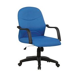 Artrich BL2002 Fabric Low Back Chair Blue