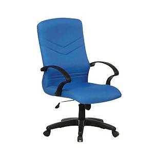 Artrich BL2101MB Fabric Medium Back Chair Blue