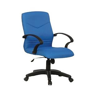Artrich BL2102LB Fabric Low Back Chair Blue