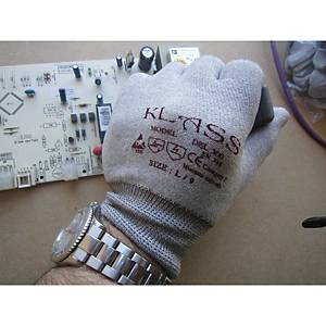 Caja de 10 pares de guantes de riesgos mínimos Microlin Cooper DEL 300 - talla 8