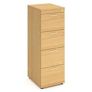 Filing Cabinet Beech 4 Drawer Lockable