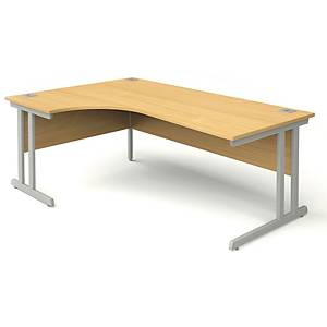Left Hand Radial Beech Desk 1600mm