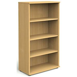Bookcase Beech 4 Shelf 1600mm