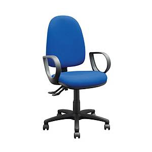 Blue High Back Task Chair With Arms