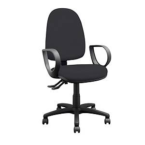 Black High Back Task Chair With Arms