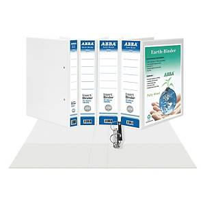 ABBA A4 2D Ring Binder PVC 25mm White