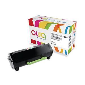 Cartouche de toner Owa compatible équivalent Lexmark 502H - 50F2H00 - noire