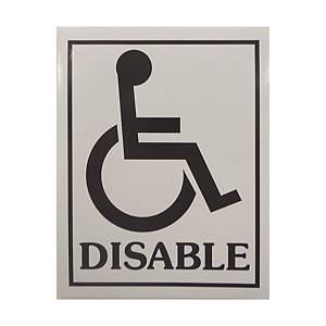 Disable Adhesive Sticker