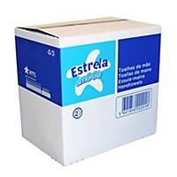 Pack 20 embalagens de toalhas de mãos Amoos - 160 folhas - V - Folha dupla
