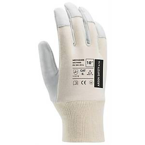 ARDON Mechanik leather handling gloves, size 10, 12 pairs